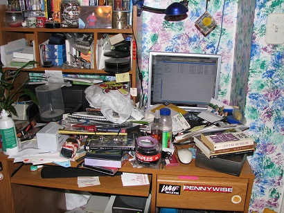one messy office